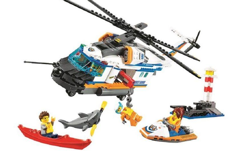конструктор спасательный вертолёт Lepin 60166 (аналог Лего 60166)