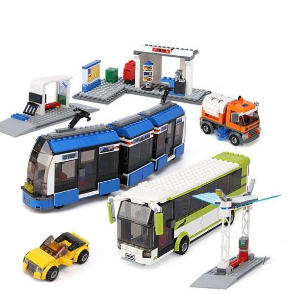 Конструктор Lepin 02023 остановка общественного транспорта