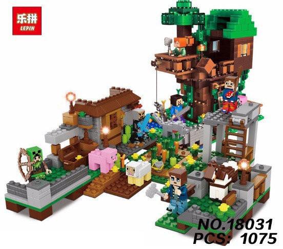 Конструктор Lepin 18031 Дом на дереве в джунглях
