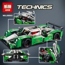 Конструктор lepin (King) 20003 Зеленый гоночный автомобиль 2 в 1