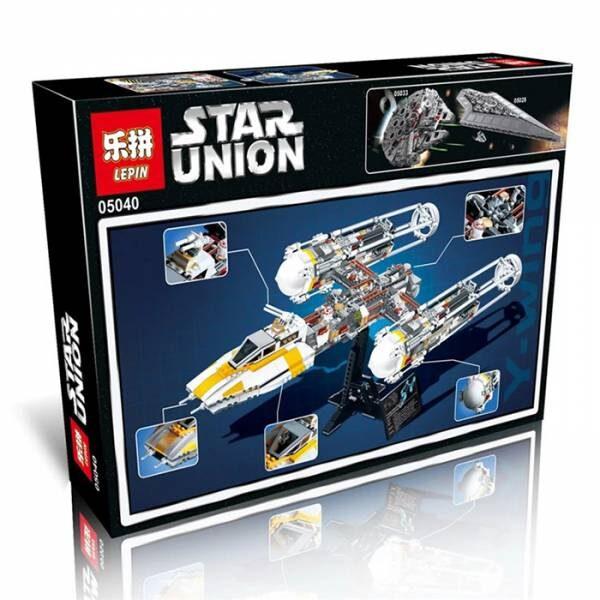 Конструктор Lepin (King) 05040 Звездный истребитель Y-Wing аналог конструктора LEGO (ЛЕГО) 10134