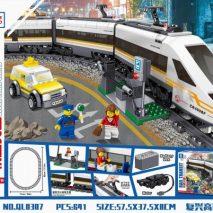 Конструктор для детей ZHE GAO QL0307 Электромеханический Скоростной поезд.