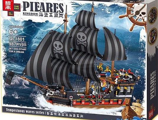 конструктор zhegao ql1801 Пиратский корабль