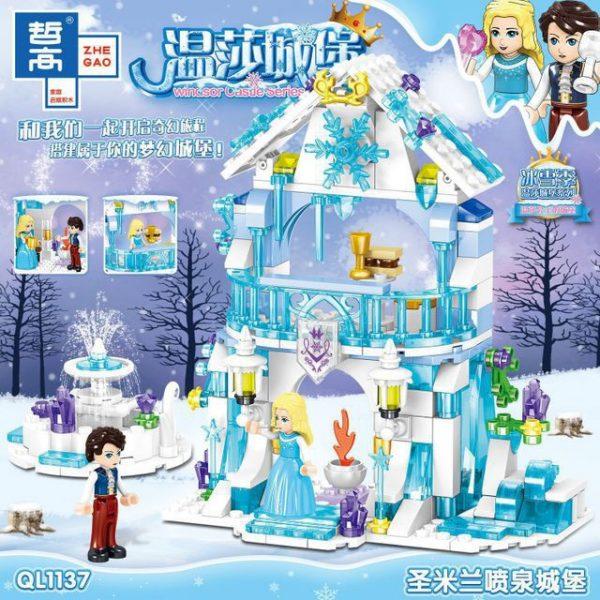 Конструктор ZHE GAO QL1137 Ледяной замок, аналог Lego