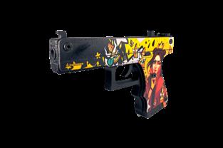Пистолет VozWooden Active Glock-18 Королева пуль (деревянный резинкострел)