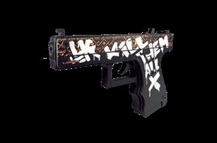 Пистолет VozWooden Active Glock-18 Пустынный Повстанец (деревянный резинкострел)