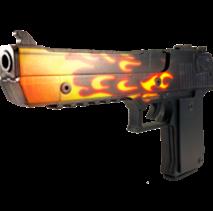 Пистолет VozWooden Active Desert Eagle Пламя (деревянный резинкострел)